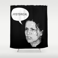larry Shower Curtains featuring Susie vs. Larry by Butt Ugly Co