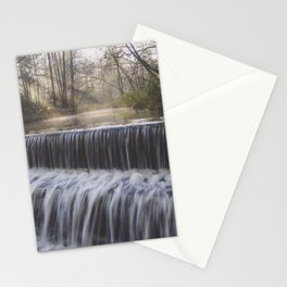 waterfall  morning sunrays Stationery Cards