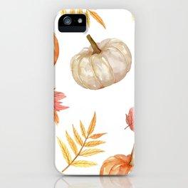 Autumn elements iPhone Case