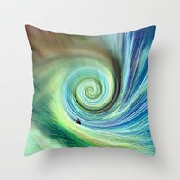 surf Throw Pillows featuring Surf by  Agostino Lo Coco