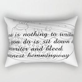Earnest's typwriter Rectangular Pillow