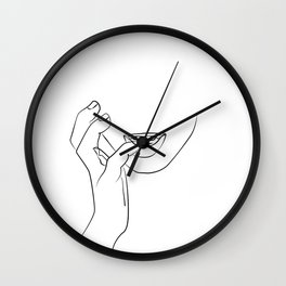 Hands On Face, Lips Print Wall Clock