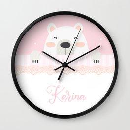 Cojines Oso Wall Clock