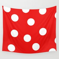 polka dot Wall Tapestries featuring Polka dot by Pirmin Nohr
