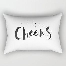 Printable Art,Cheers,Quote Prints,Wedding Anniversary,Celebrate Life,Happy Birthday,Typography Art Rectangular Pillow