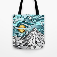 Turquoise Sky Tote Bag