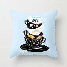 galactic cups Throw Pillow