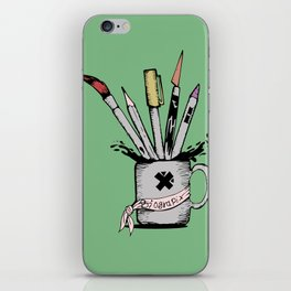 Ink cup iPhone Skin