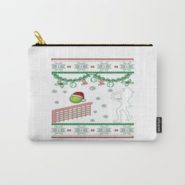 Tennis Christmas Carry-All Pouch