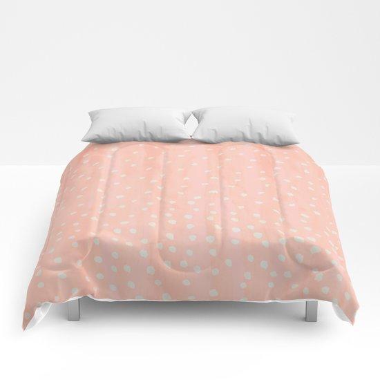 Beige Dots Comforters