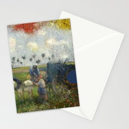 "Camille Pissarro ""The Artist's Palette with a Landscape (c.1878)"" Stationery Cards"