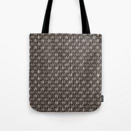 Grey Cross Weave Texture Tote Bag