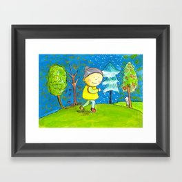 Run in every season of your life! Framed Art Print