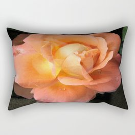 Rose With Dew Abstract Rectangular Pillow