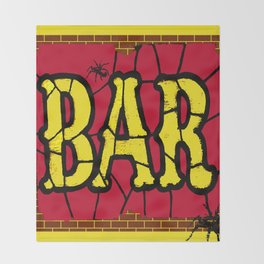 BAR AND SPIDERS VINTAGE SIGN Throw Blanket
