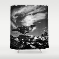 raven Shower Curtains featuring Raven by Lost In Nature
