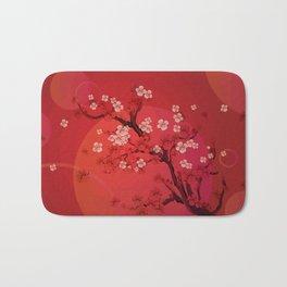 Kirschblütenzweig Bath Mat