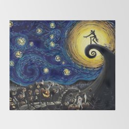 Starry (Nightmare Before Christmas) Night Throw Blanket