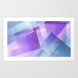 Beautiful Blue and Purple - Digital Geometric Texture Art Print