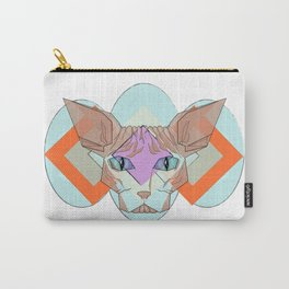 Geometric Hairless Cat Carry-All Pouch
