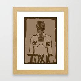 TOXIC vintage Framed Art Print
