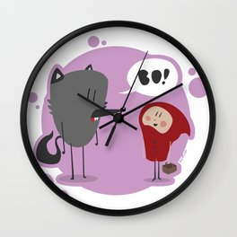 Red Ridign Hood Wall Clock