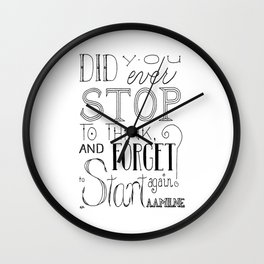 Forget To Start Wall Clock