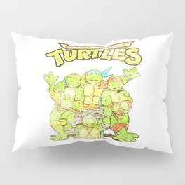 Retro Ninja Turtles Pillow Sham