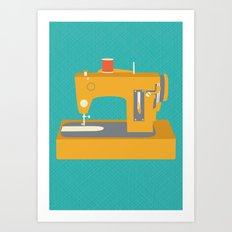 Sewing Machine Yellow Art Print