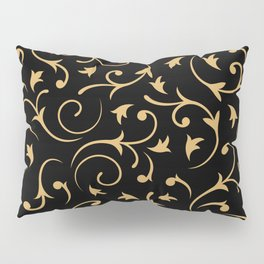 Baroque Design – Gold on Black Pillow Sham