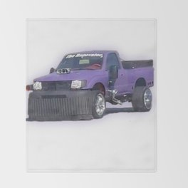 Purple car Throw Blanket