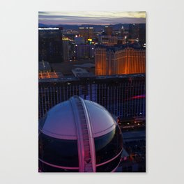Las Vegas Strip from the Highroller Canvas Print