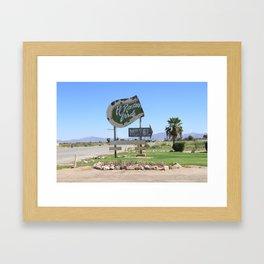 Middle of nowhere motel Framed Art Print
