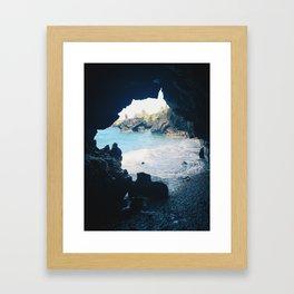 Hana Lava Tube Framed Art Print