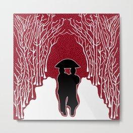 White Forest Snow Metal Print