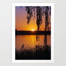 Beautiful sunset over lake #2 Art Print
