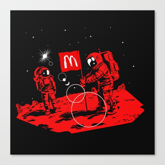First we take Manhattan, Then we take Mars Canvas Print