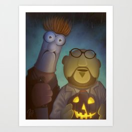 Muppet Maniac - Dr. Honeydew & Beeker as Michael Myers & Dr. Loomis Art Print