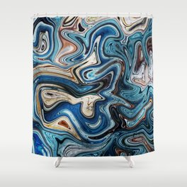 Calcite Marble Opal stone Shower Curtain
