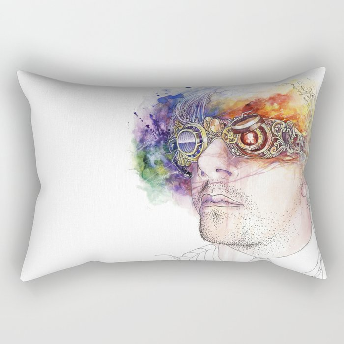 Seeing the world in different colours Rectangular Pillow