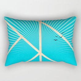 Leaf - Graphic sunset Rectangular Pillow