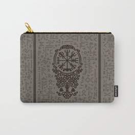 Vegvisir - Viking Compass on Futhark pattern Carry-All Pouch