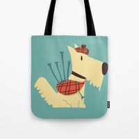 terrier Tote Bags featuring Scottish  Terrier - My Pet by Picomodi