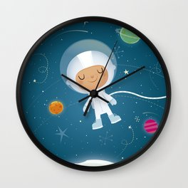 Little Astronaut Wall Clock