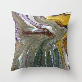 Fluid Acrylic XX - Original, acrylic, abstract painting Throw Pillow