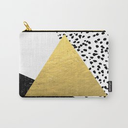 Rexa - gold abstract minimal tribal glitter triangle geometric art cell phone case brooklyn austin  Carry-All Pouch