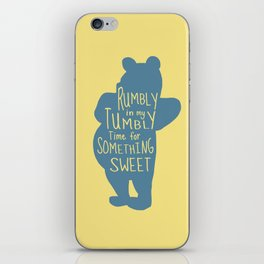 Rumbly in my Tumbly Time for Something Sweet - Pooh inspired Print iPhone Skin