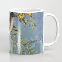 Flycatcher with Carolina Jasmine, Vintage Natural History and Botanical Coffee Mug