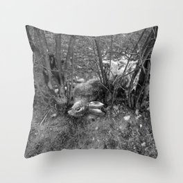 Dead Rabbit Dead. Throw Pillow