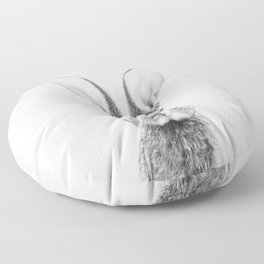 Black and White Bunny Floor Pillow
